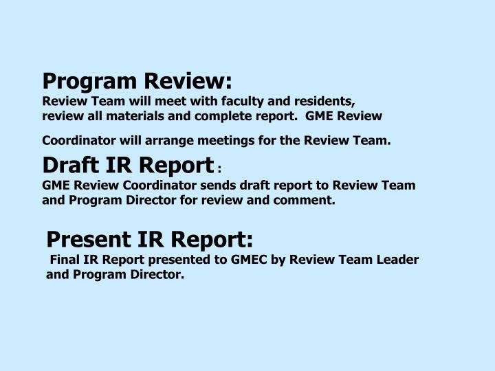 Program Review: