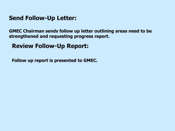 Send Follow-Up Letter: