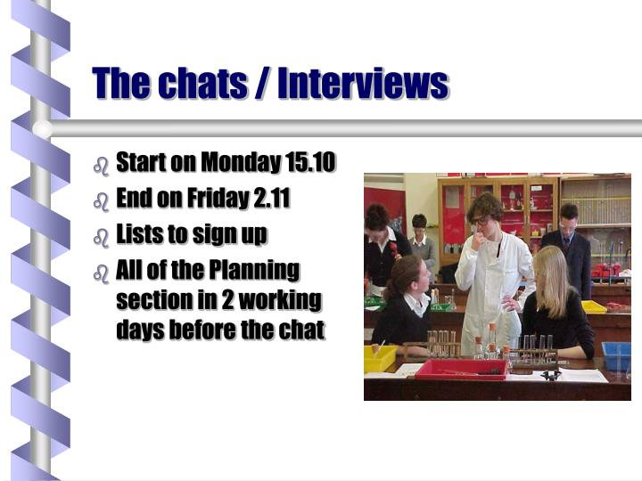 The chats / Interviews