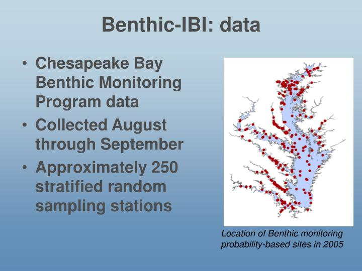 Benthic-IBI: data