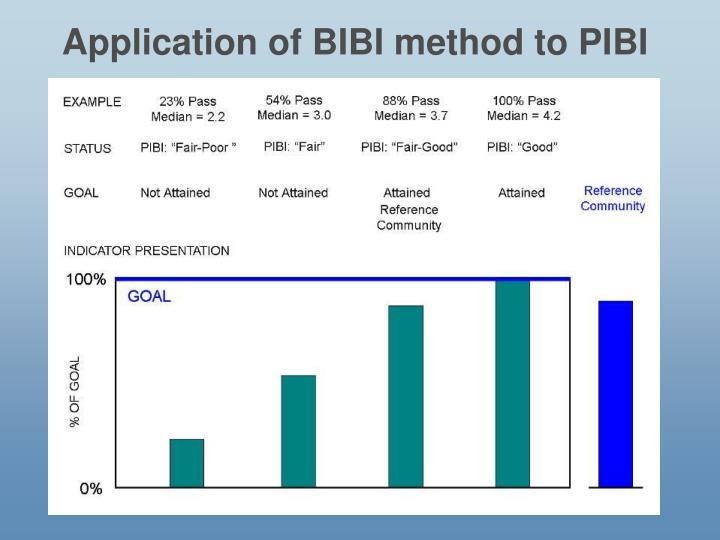 Application of BIBI method to PIBI