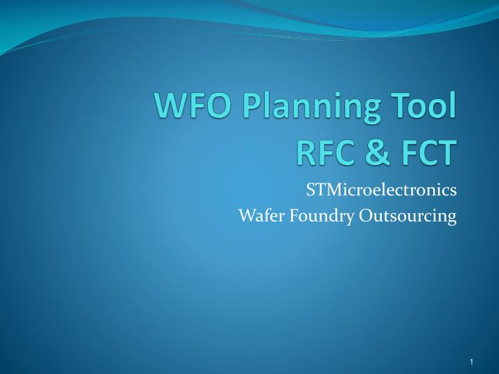 WFO Planning Tool