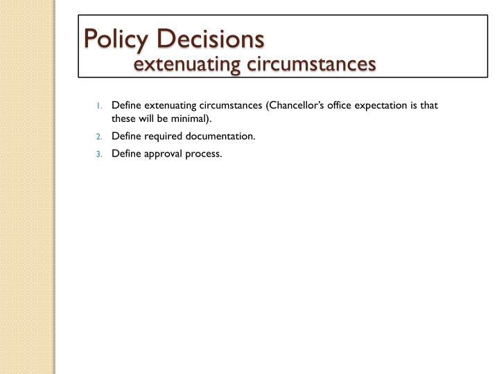 Policy Decisions