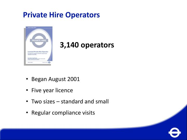 Private Hire Operators
