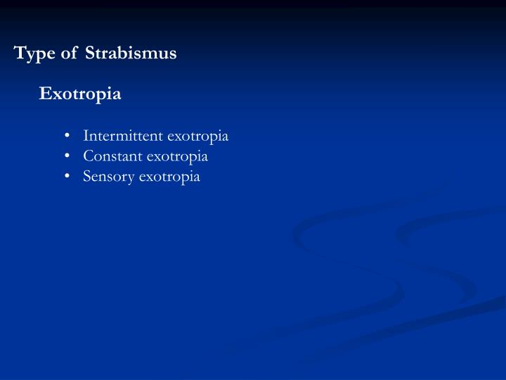 Type of Strabismus
