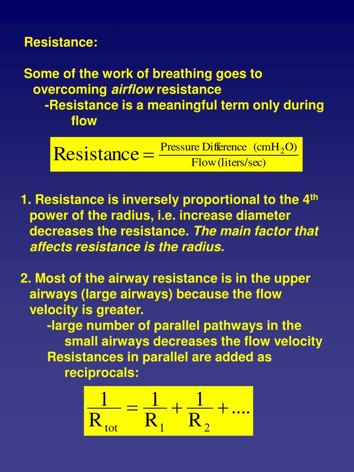 the fev1 as the radius of the airway was decreased