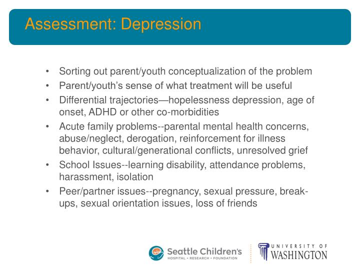 Assessment: Depression
