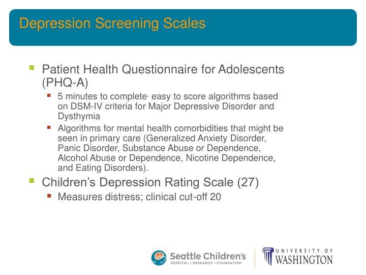 Depression Screening Scales