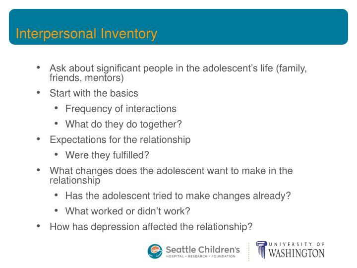 Interpersonal Inventory