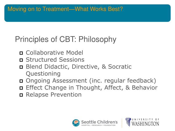 Moving on to Treatment—What Works Best?