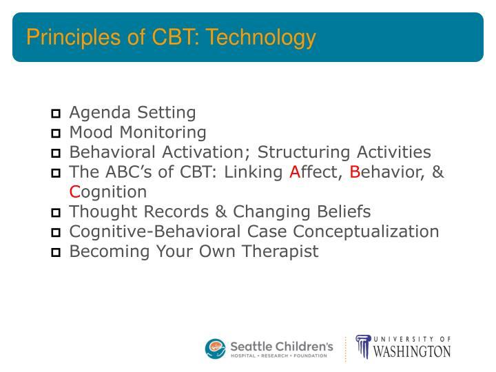 Principles of CBT: Technology