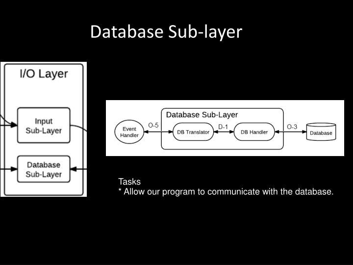 Database Sub-layer