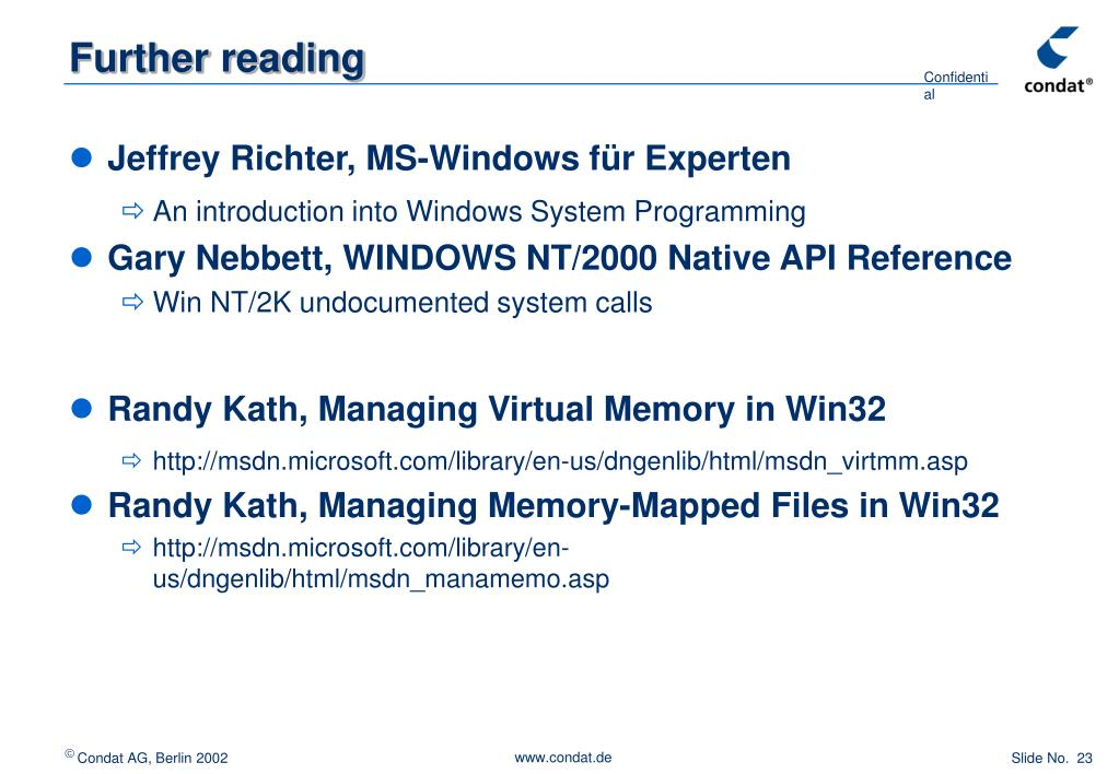 PPT - Enhancing Windows Shared Memory for VCMS (The SHM-NT
