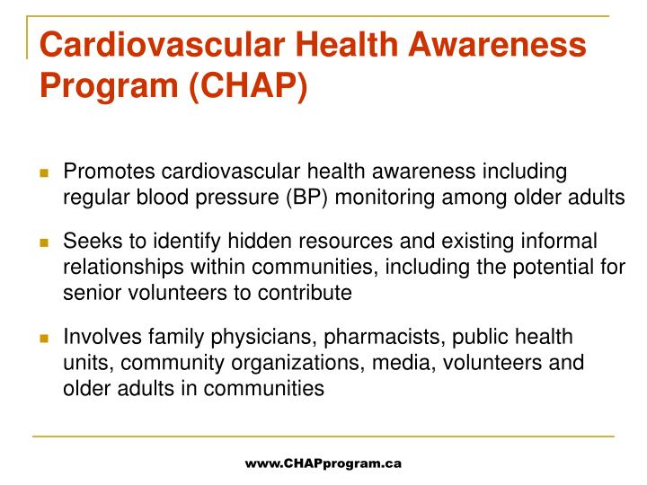 Cardiovascular health awareness program chap