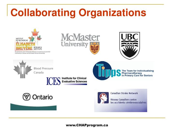 Collaborating organizations