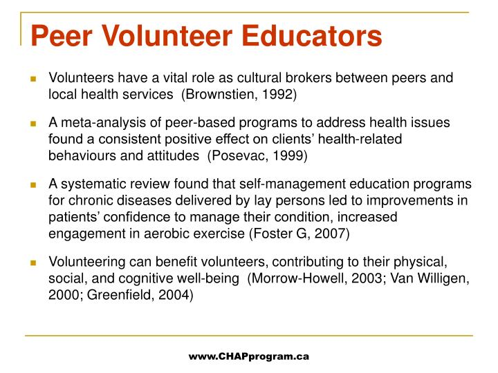 Peer Volunteer Educators