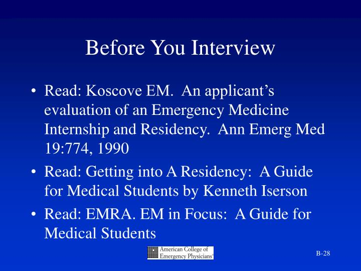 Before You Interview