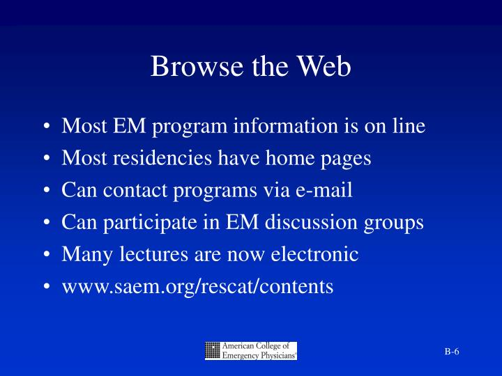 Browse the Web