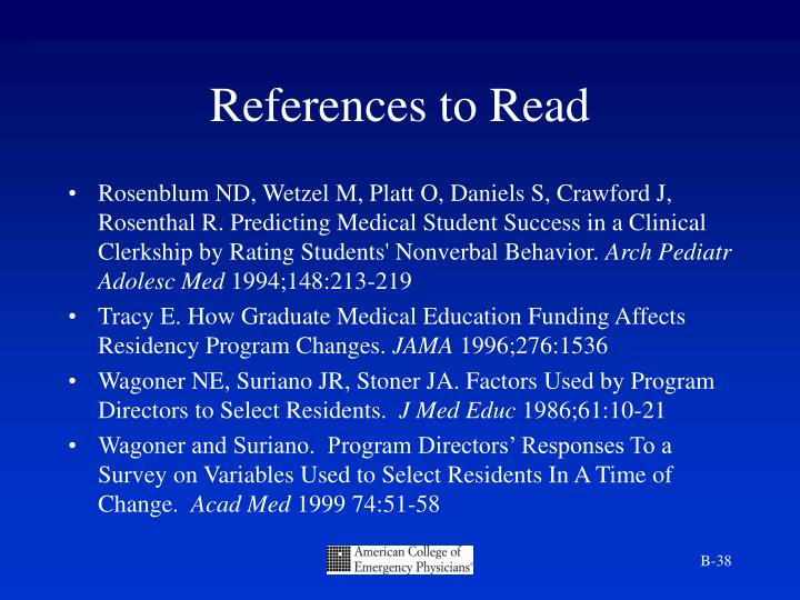 References to Read