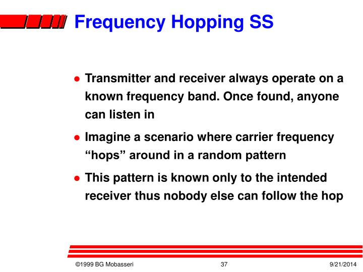 Frequency Hopping SS