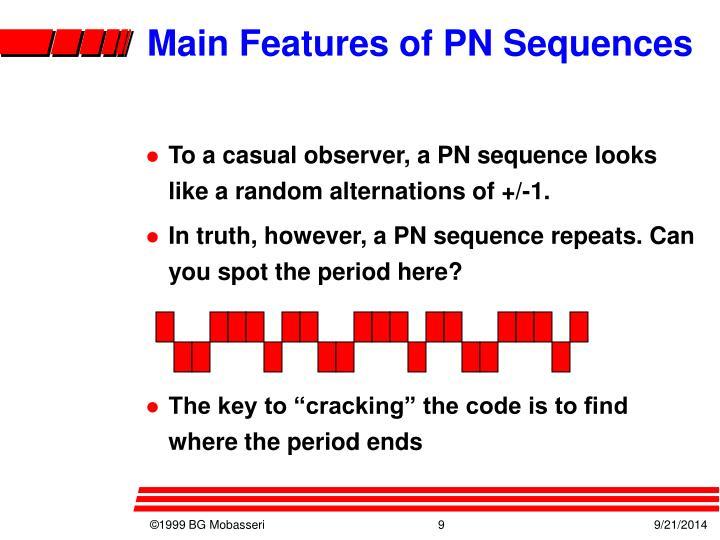 Main Features of PN Sequences
