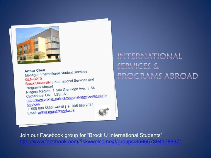International services programs abroad