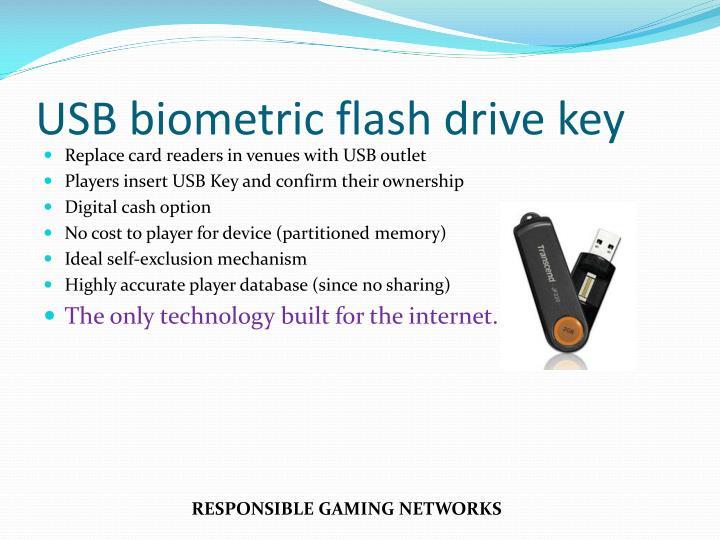USB biometric flash drive key