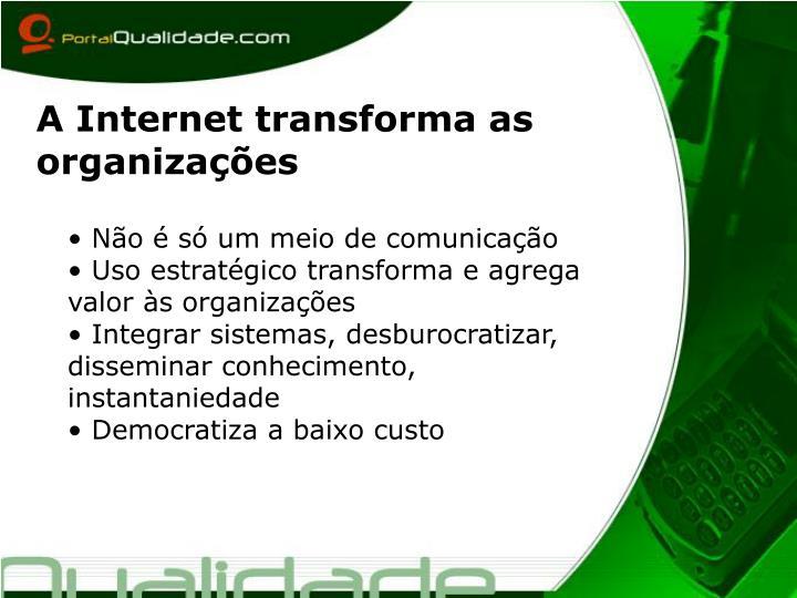 A Internet transforma as organizações