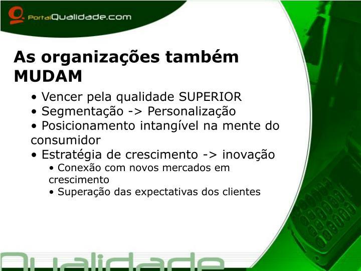 As organizações também MUDAM