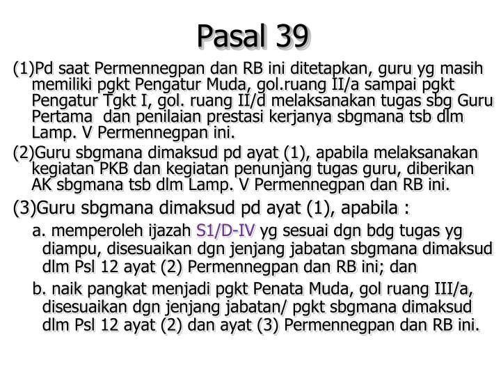 Pasal 39