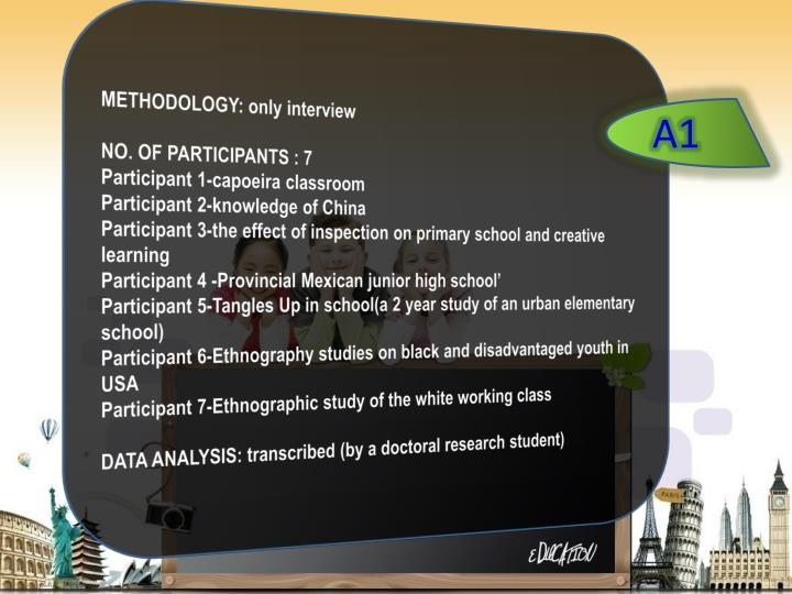 METHODOLOGY: only interview