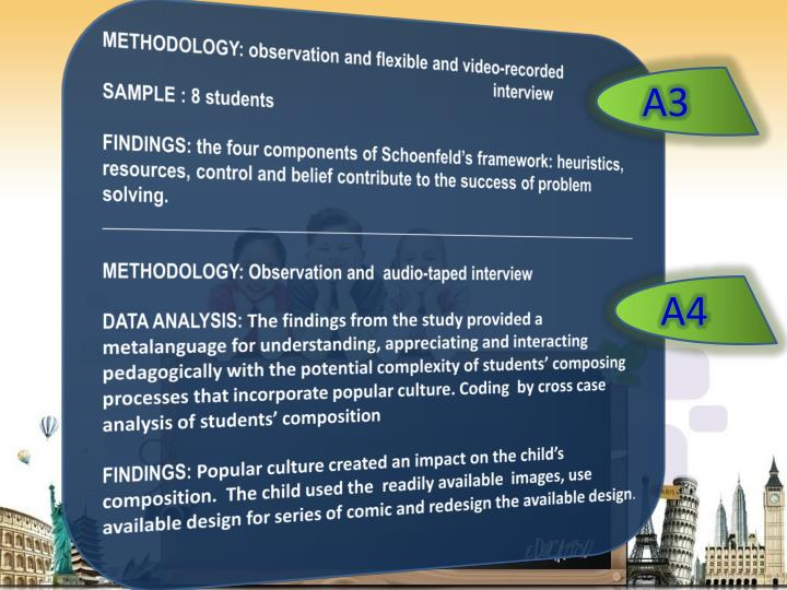METHODOLOGY: observation and flexible and video-recorded