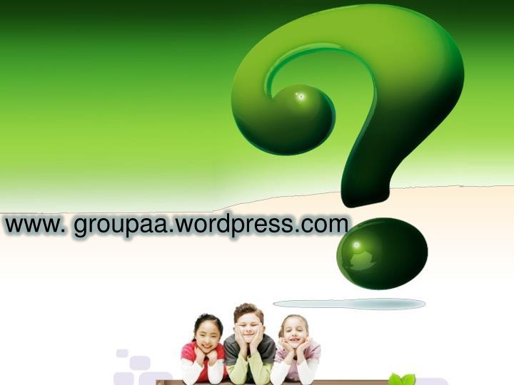 www. groupaa.wordpress.com