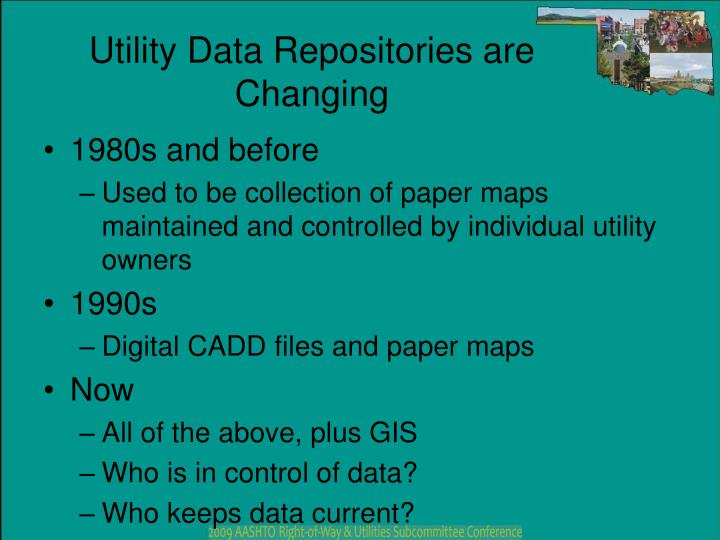 Utility data repositories are changing