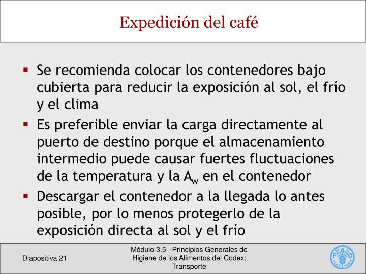 Expedición del café