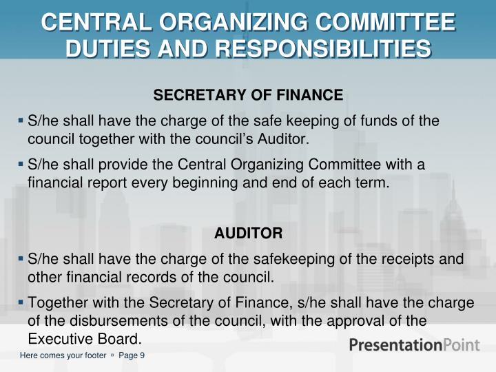 CENTRAL ORGANIZING COMMITTEE