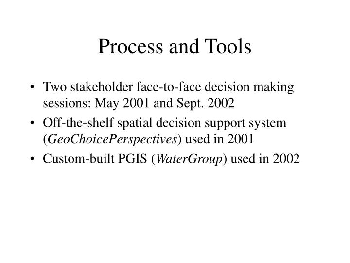 Process and Tools