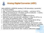 analog digital converter adc