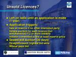 unsold licences
