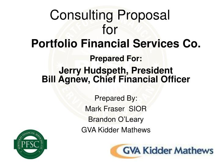 consulting proposal for