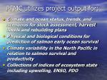 pfmc utilizes project output for