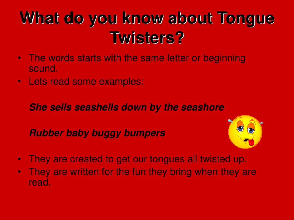 PPT - Try out this fun tongue twister: PowerPoint Presentation - ID