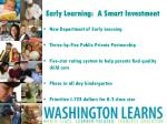 early learning a smart investment
