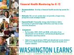 financial health monitoring for k 12