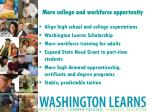 more college and workforce opportunity