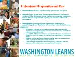 professional preparation and pay