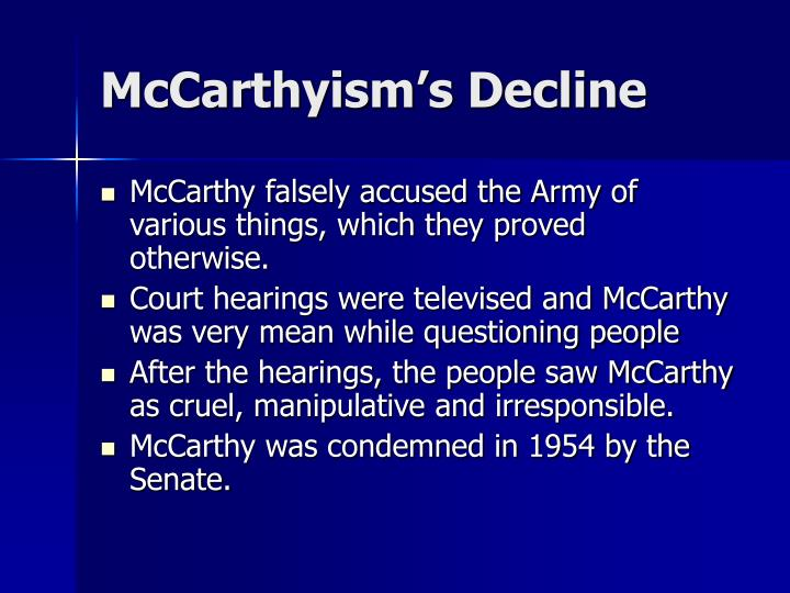 McCarthyism's Decline