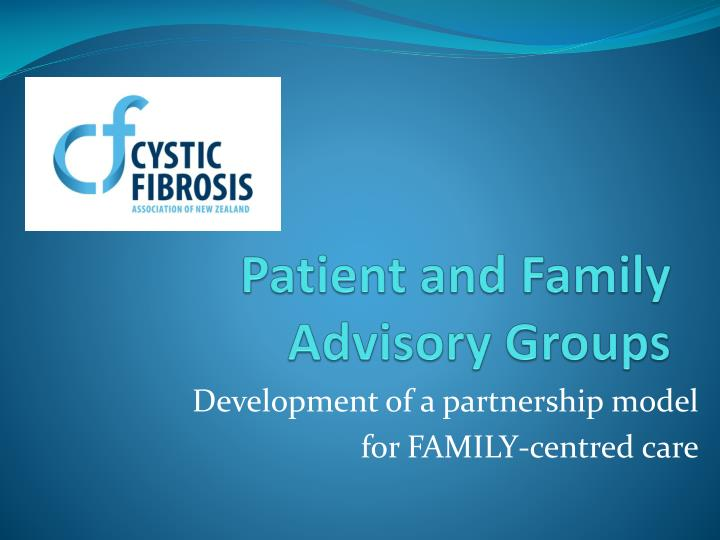 patient and family advisory groups n.