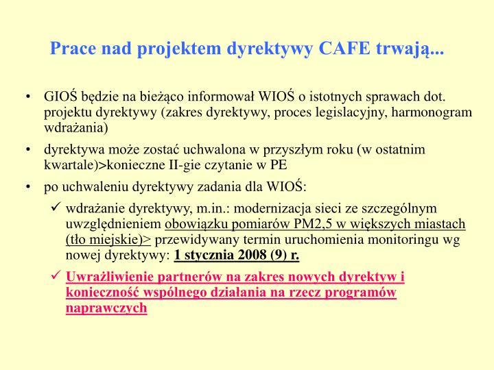 Prace nad projektem dyrektywy CAFE trwają...