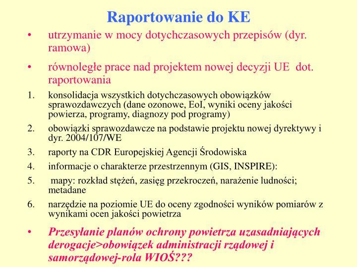 Raportowanie do KE